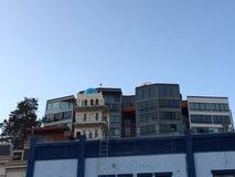Den blåa kupolen av tornet för Pasquale ` s och gåta, 2 arkivfoto