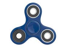 Den blåa leksaken för avlösning för rastlös människaSPINNAREspänning på vit isolerade bakgrund illustration 3d Royaltyfria Bilder