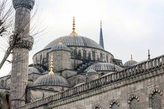 Den blåa moskén av Istanbul Royaltyfri Fotografi