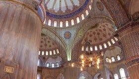 Den blåa moskén (den Sultanahmet moskén) Arkivfoto