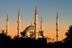 Den blåa moskén, Istambul, Turkiet Royaltyfri Bild