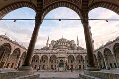 Den blåa moskén, Istanbul, Turkiet. Arkivfoto