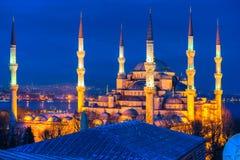 Den blåa moskén, Istanbul, Turkiet. Fotografering för Bildbyråer