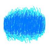 Den blåa pennan klottrar texturfläck som isoleras på vit bakgrund Arkivbild
