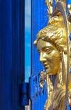Den blåa porten till Djurgarden parkerar royaltyfri foto