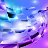 Den blåa purpurfärgade turkossvartspiralen rundade mosaikbakgrund royaltyfri illustrationer