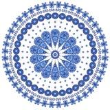 Den blåa rundan snör åt Royaltyfri Illustrationer