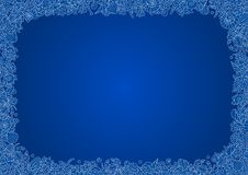 Den blåa sömlösa vectorial ramen av horisontalformatet A4 från översiktsbilder av korall, havet beskjuter och fångar krabbor Arkivfoton