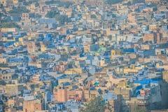 Den blåa staden av Rajasthan Royaltyfria Bilder