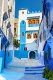 Den blåa staden Chefchaouen Marocko Fotografering för Bildbyråer