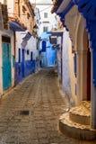 Den blåa staden Chefchaouen Marocko Royaltyfri Bild
