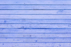 Den blåa wood texturen Royaltyfri Foto