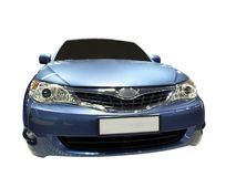 den blåa bilen fast Royaltyfri Fotografi