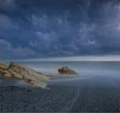 Den Black Sea kusten, Abchazien Royaltyfri Bild