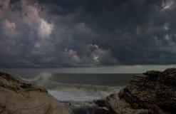 Den Black Sea kusten, Abchazien Royaltyfria Foton