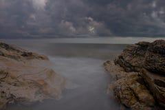 Den Black Sea kusten, Abchazien Royaltyfri Fotografi