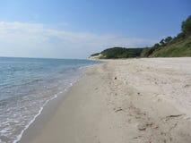 Den Black Sea kustlinjen nära Varna, Bulgarien Fotografering för Bildbyråer