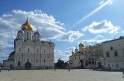 Den Blagoveshchensk domkyrkan, Kreml, Moskva Arkivbilder