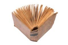 den blanka boken isolerade gammal öppen white Arkivfoto