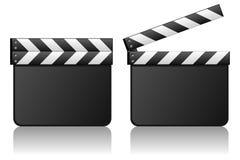 Den blanka filmClapboardfilmen kritiserar Arkivbild
