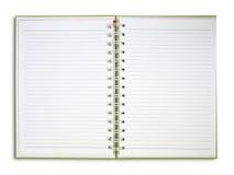 den blanka framsidaanteckningsboken öppnar två Arkivbilder