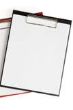 den blanka tomma mappen papers två Arkivbilder