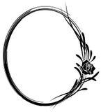 Inrama med blommor av ron stock illustrationer