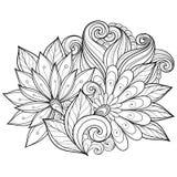 den blom- bakgrundsdesignen använder idealt den din vektorn royaltyfri illustrationer