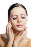 Den blom- makeupen, vänds hon av tre - inkvarterar Royaltyfria Bilder