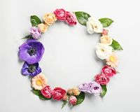 den blom- ramen inramniner serie Royaltyfri Bild