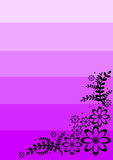 den blom- ramen inramniner serie Arkivbild