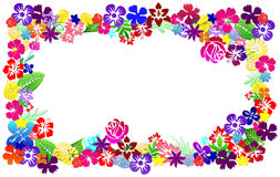 den blom- ramen inramniner serie Royaltyfria Bilder