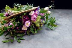 den blom- ramen inramniner serie Royaltyfri Fotografi