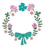 den blom- ramen inramniner serie Gullig retro blommakrans som är perfekt för att gifta sig Royaltyfria Foton