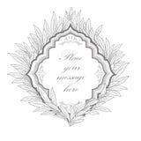 den blom- ramen inramniner serie Sidatappninggräns Royaltyfri Foto