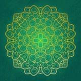 Den blom- rundan snör åt design Royaltyfri Bild