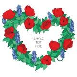 Den blom- valentinen inramar Royaltyfria Foton