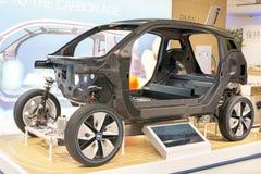 Den BMW i3 kroppstrukturen Arkivbild