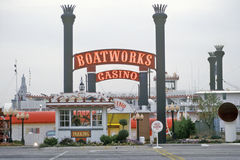 Den Boatworks kasinot, vaggar ön, Illinois Arkivbild