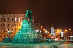Den Bogdan Khmelnitsky monumentet Royaltyfria Bilder