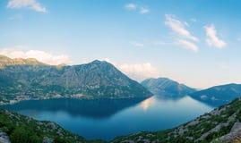 Den Boko Kotor fjärden, Montenegro Arkivfoton