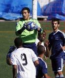 den bollKanada vårdaren quebec sparar fotboll fotografering för bildbyråer