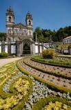 den bombraga kyrkan gör jesus monte portugal Royaltyfri Foto