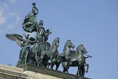 den borgerliga statyn kriger Arkivfoto