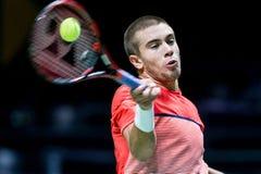 Den Borna Coric ATP-världen turnerar inomhus tennis Royaltyfri Fotografi