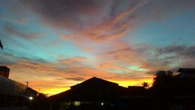 Den Borneo solnedgången Royaltyfria Bilder
