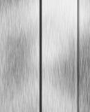 Den borstade alluminiumen belägger med metall pläterar Arkivfoto