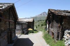 Den borttappade schweiziska byn Fotografering för Bildbyråer