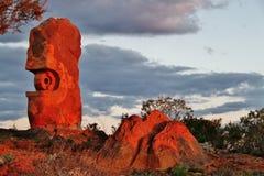 Den bosatta ökenreserven och skulpturerna, bruten kulle, New South Wales Royaltyfri Fotografi
