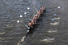 Den Boston högskolan races i huvudet av Charles Regatt Royaltyfria Foton